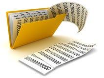 Folder and data vector illustration