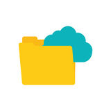 Folder data clouds system technology connect Stock Images