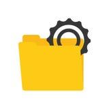 Folder data gear wheel technology. Illustration eps 10 Stock Photo