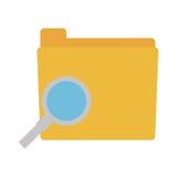 Folder data search paper. Illustration eps 10 Stock Photo