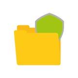 folder data shiled protection security technology Stock Photography