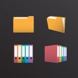 Folder Design. Folder icon Design, Vector Illustration Stock Photos
