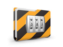 Folder with dialing lock Royalty Free Stock Photos