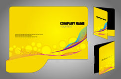 Folder with die cut Royalty Free Stock Photo