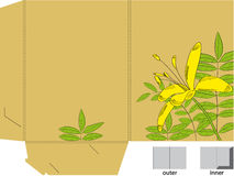 Folder with die cut (Lily flowers) Stock Photos