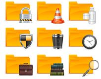 Folder with different icons Royalty Free Stock Image