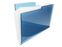 Folder. Directory. File 3D isolated. Folder. Directory. File 3D -  Icon isolated Royalty Free Stock Photography