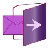 Folder disc. A folder showing a mail Stock Photos