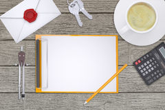 Folder with divider on table Stock Image