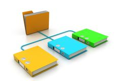 Folder and Document. 3d illustration of Folder and Document Royalty Free Stock Image