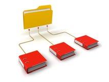Folder and Document 免版税图库摄影