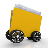 Folder for Document. S on Wheels isolated on white background Stock Photos