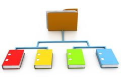 Folder and Document Royalty Free Stock Images
