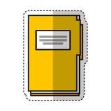Folder document isolated icon. Vector illustration design Royalty Free Stock Photos