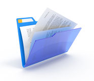 Folder with a documents Royalty Free Stock Photos