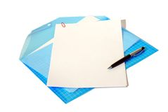 Folder with documents Royalty Free Stock Photography