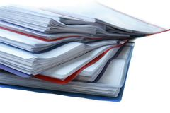 Folder with documents. Over white Royalty Free Stock Image
