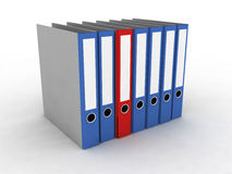 Folder for documents. On the white background Royalty Free Stock Photography