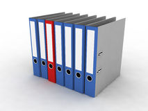 Folder for documents. On the white background Royalty Free Stock Photos