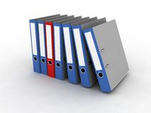 Folder for documents. On the white background Stock Images