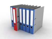 Folder for documents. On the white background Royalty Free Stock Image
