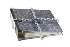 Folder with documents bandaged chain Royalty Free Stock Photo