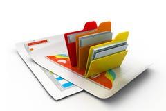 Folder with documents Stock Image
