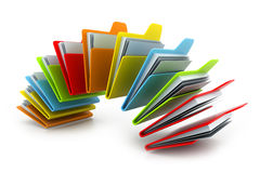 Folder with documents Stock Images
