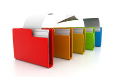 Folder with documents. 3d illustration of folder with documents Stock Images