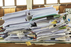 Folder with documents and important documents Stock Photo