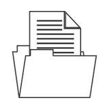Folder documents isolated icon Stock Image