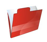 Folder for documents. Red folder for documents on white background Royalty Free Stock Photography