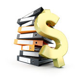 Folder dollar. On a white background Royalty Free Stock Images