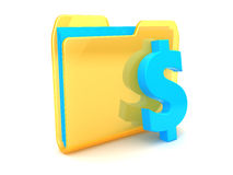 Folder with dollar Royalty Free Stock Photos