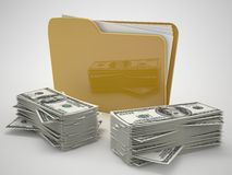 Folder and dollar icon Stock Photo
