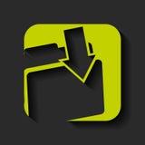 Folder download icon design. Illustration eps10 graphic Royalty Free Stock Photos