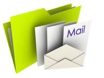 Folder E-Mail. 3D Illustration of a Mail Folder Royalty Free Stock Photos