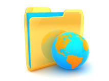 Folder and earth Stock Photography