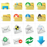 Folder and Email. Landscape file folder Royalty Free Stock Photography