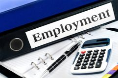 Folder with employment Royalty Free Stock Photo