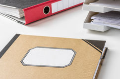 Folder with an empty label Stock Photo