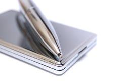 Folder en pen stock foto's
