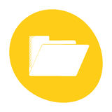 Folder file document archive icon color. Vector illustration eps 10 Stock Photo