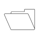 Folder file document archive icon thin line. Vector illustration eps 10 Royalty Free Stock Photography