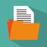 Folder file document icon design. Illustration eps 10 Stock Image