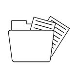 Folder file document information outline Stock Image