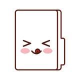 Folder file kawaii character. Vector illustration design Royalty Free Stock Photography