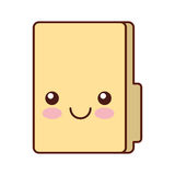 Folder file kawaii character. Vector illustration design Royalty Free Stock Image