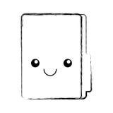 Folder file kawaii character. Vector illustration design Stock Photo