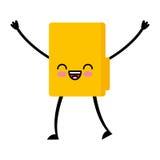 Folder file kawaii character. Vector illustration design Stock Image